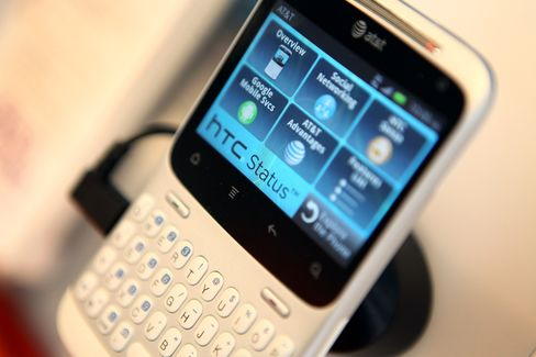 A HTC Status Mobile Device