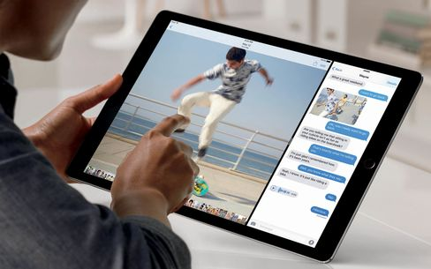 With a nearly 13-inch screen, the iPad Pro has enough space for two apps to be used simultaneously.