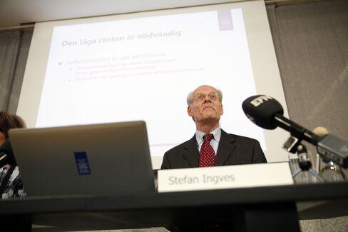 Riksbank Governor Stefan Ingves News Conference