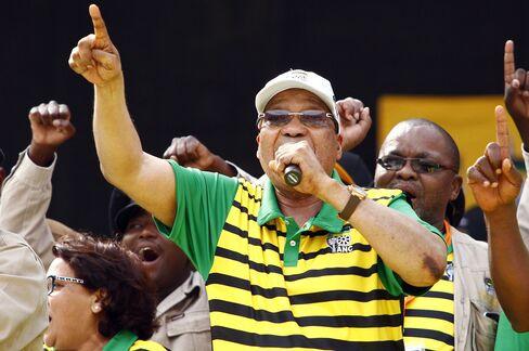 Jacob Zuma in Port Elizabeth.