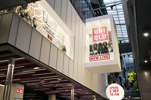 Uniqlo's new flagship store in the Orchard Central shopping mall in Singapore.