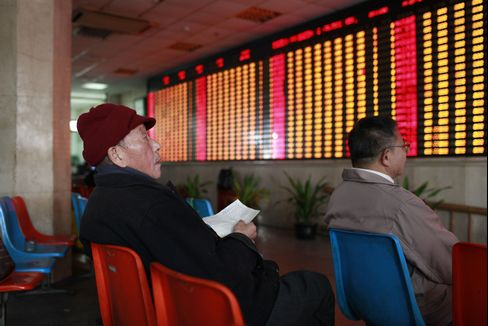 China's Stocks Rise Most in 3 Weeks on Foreign Funds Prospects