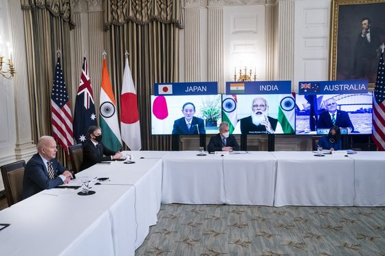 Leaders of U.S., India, Japan, Australia Vow a Vaccine Increase