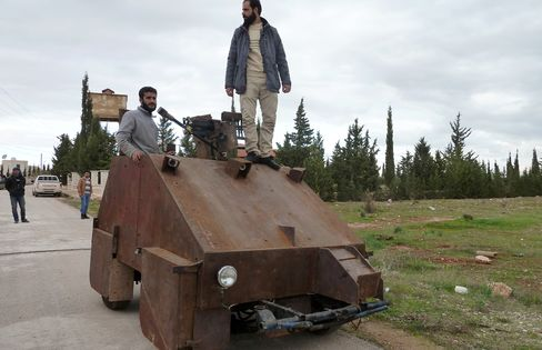 Makeshift Syrian Rebel Tank