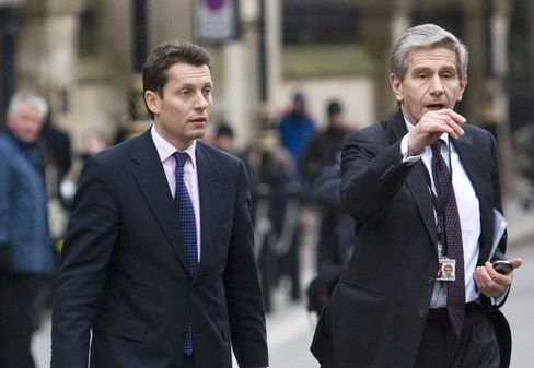 Andy Hornby, left, and Dennis Stevenson