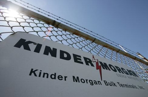A Sign Hangs From A Fence At A Kinder Morgan Facility