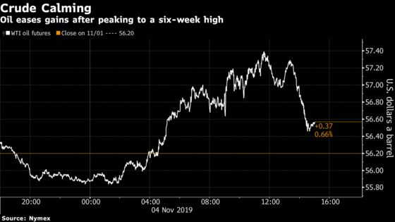 Oil at Highest in a Week on Possible U.S.-China Trade Deal