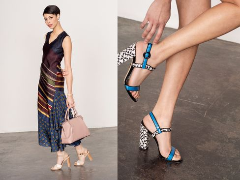 Wear an ankle-skimming dress with block heels for a professional take on the maxi.