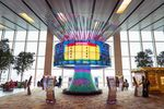 An interactive installation at Terminal 1 of Changi Airport in Singapore.