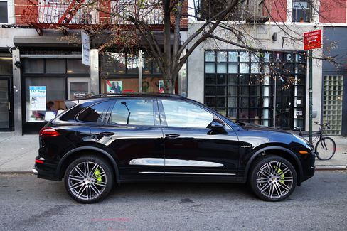 From the outside, the e-Hybrid Cayenne looks like the other, gas-burning models in the line.
