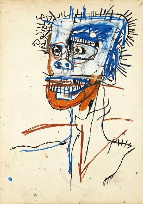 Head of Madman by Basquiat