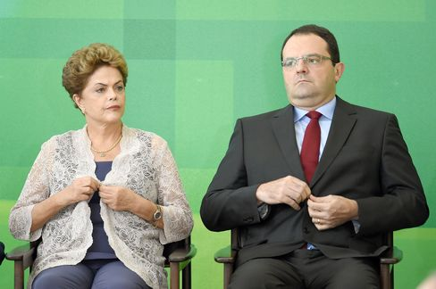 Dilma Rousseff and new Finance Minister Nelson Barbosa