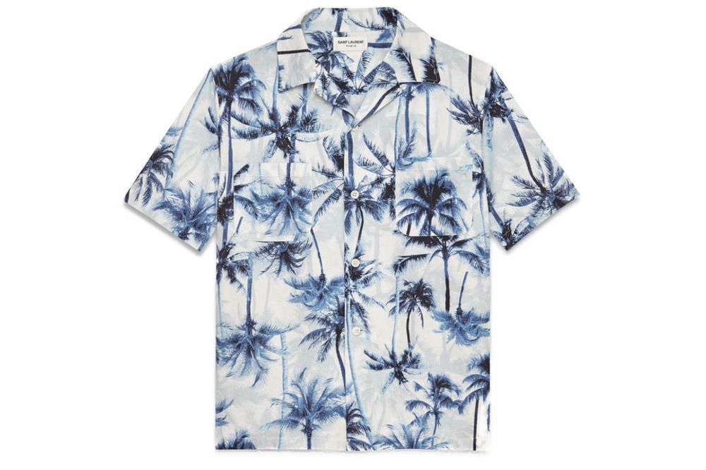 45553a5d relates to You Can Wear Hawaiian Shirts This Year and Not Look Like  Grandpa. Source: Saint Laurent via Bloomberg