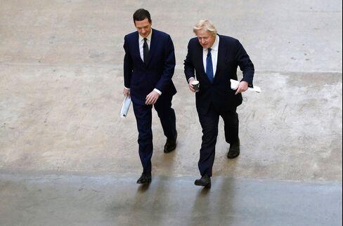 London Mayor Boris Johnson And Chancellor George Osborne Give Joint Speech
