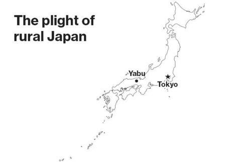 ???Farmland is deteriorating as people here are getting old,??? says Tomiyoshi Kurogoushi, a farmer in Yabu, Japan.