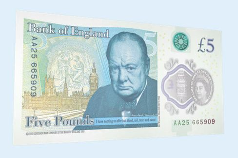 Bank of England's new 5-pound note features Churchill
