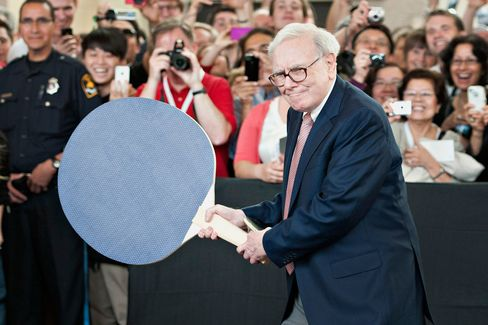 Warren Buffett, during an event at the Berkshire Hathaway Inc. annual shareholders meeting in Omaha, Nebraska, 2012.