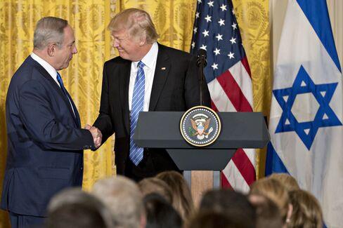 トランプ米大統領とネタ ニヤフ・イスラエル首相