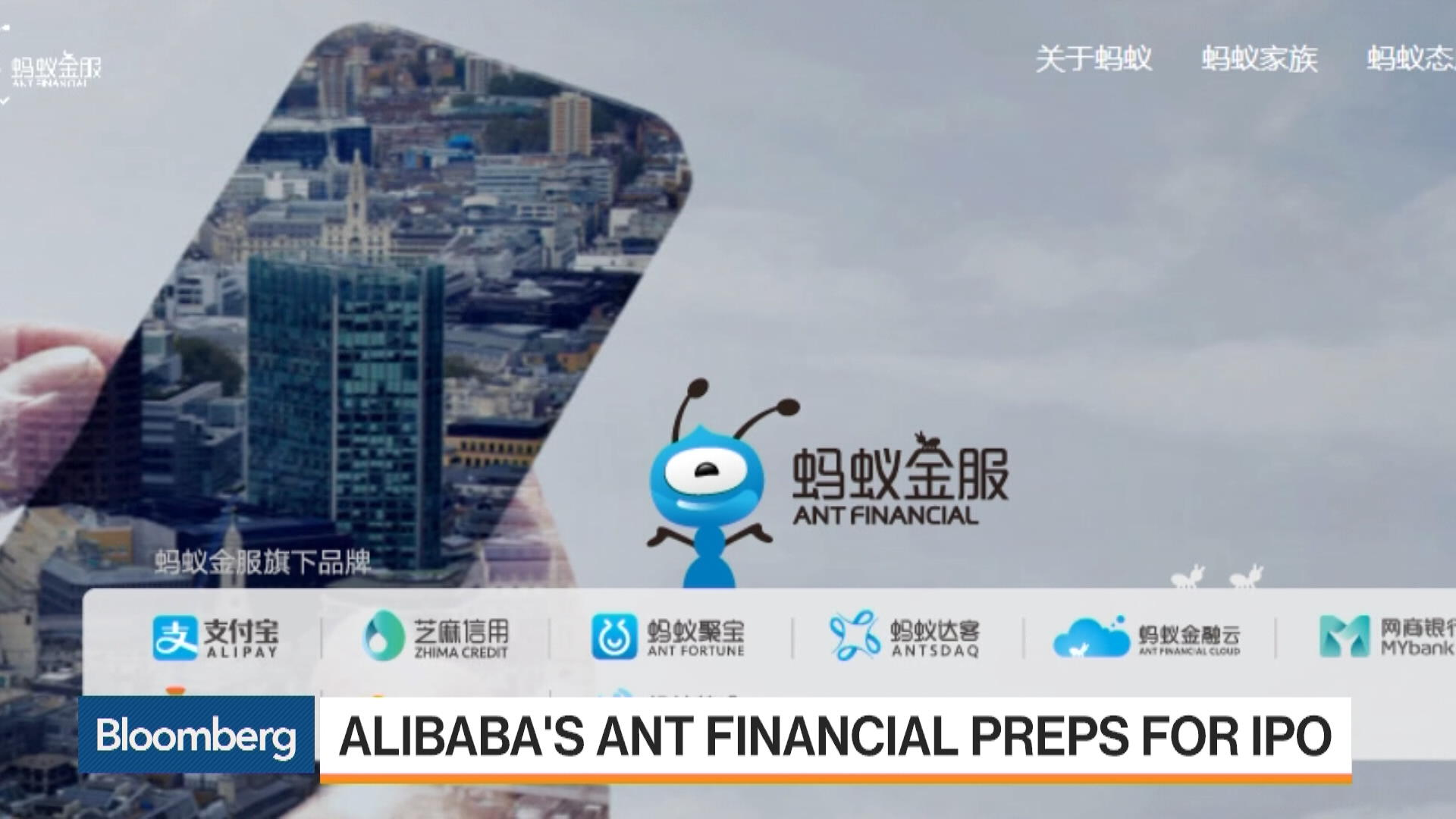 Alibaba's Ant Financial Preps for IPO - Bloomberg