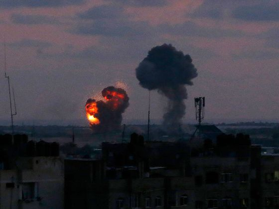 Israeli Jets Strike Gaza Targets After Rockets Fired Overnight