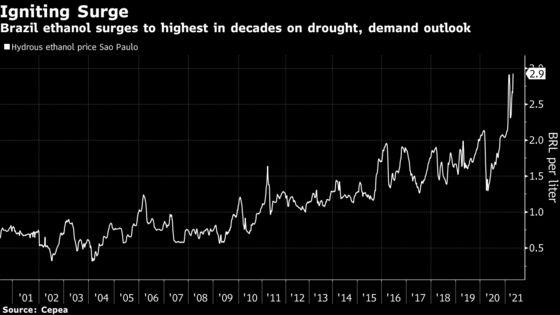Global Sugar Shortage Could Get Worse as Brazilians Drive Again