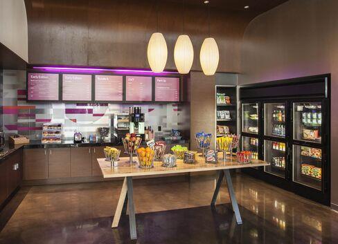 The Refuel café at Aloft Santa Barbara. Soon, Siri might help you order room service from its grab-and-go menu.