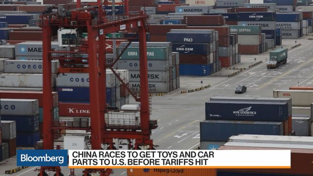 China Races to Get Toys and Car Parts to U S  Before Tariffs