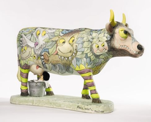 """Maurice Sendak (after):A Tabletop Cow (""""Moo-Reese""""), 2000"""
