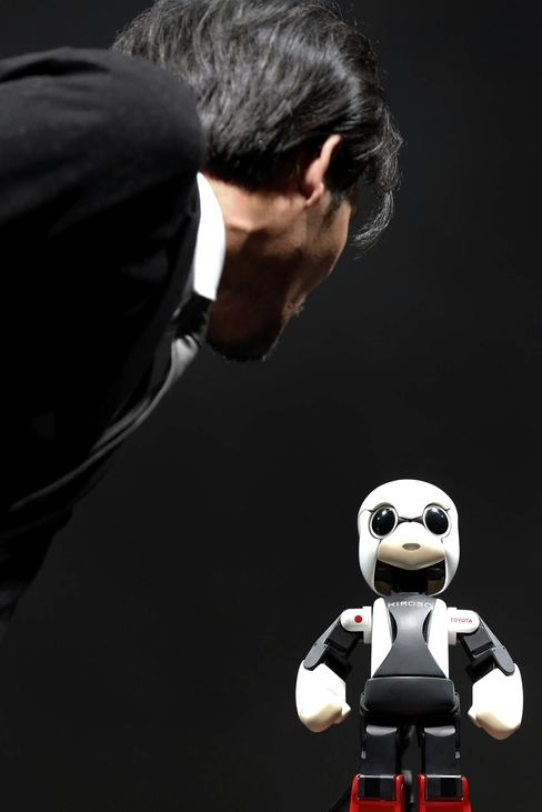 A demonstration of the Kirobo robot in June 2013.