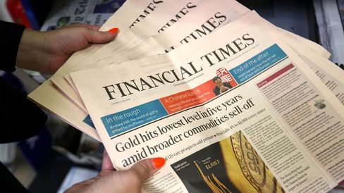 The Financial Times newspapers in Danbury, Essex, U.K.