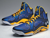 Curry's customized UA shoe. A signature model is in the works