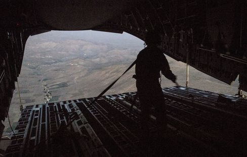 U.S. Air Force Aid Drops over Iraq
