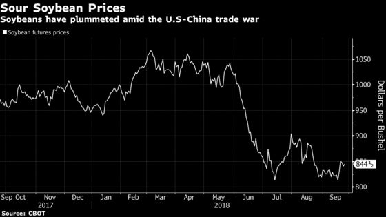 Cargill CEO Sees Risk to U.S. Farmers as China Shuns Soybeans