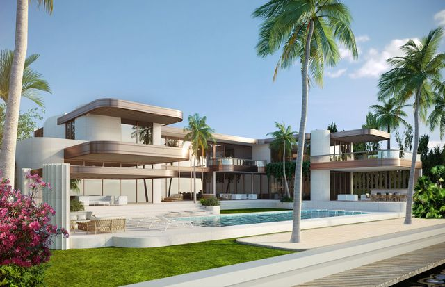 Glaser is building a new waterfront mansion designed by architect Kobi Karp, replacing a now-demolished estate owned by Jeffrey Epstein.