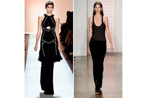 From left: Hervé Leger by Max Azria; Dion Lee.
