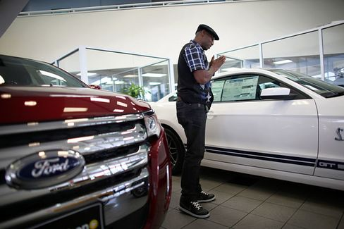 U.S. Car Buyers Lever Up to Record Levels