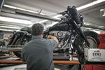 Inside A Harley-Davidson Inc. Dealership As Motorcycle Maker Contemplates Move Overseas