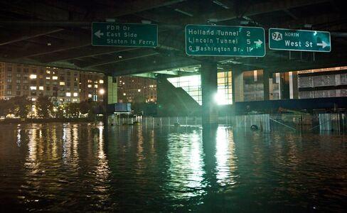 U.S. Super Storm's Record Flooding Lands Blackout Blow