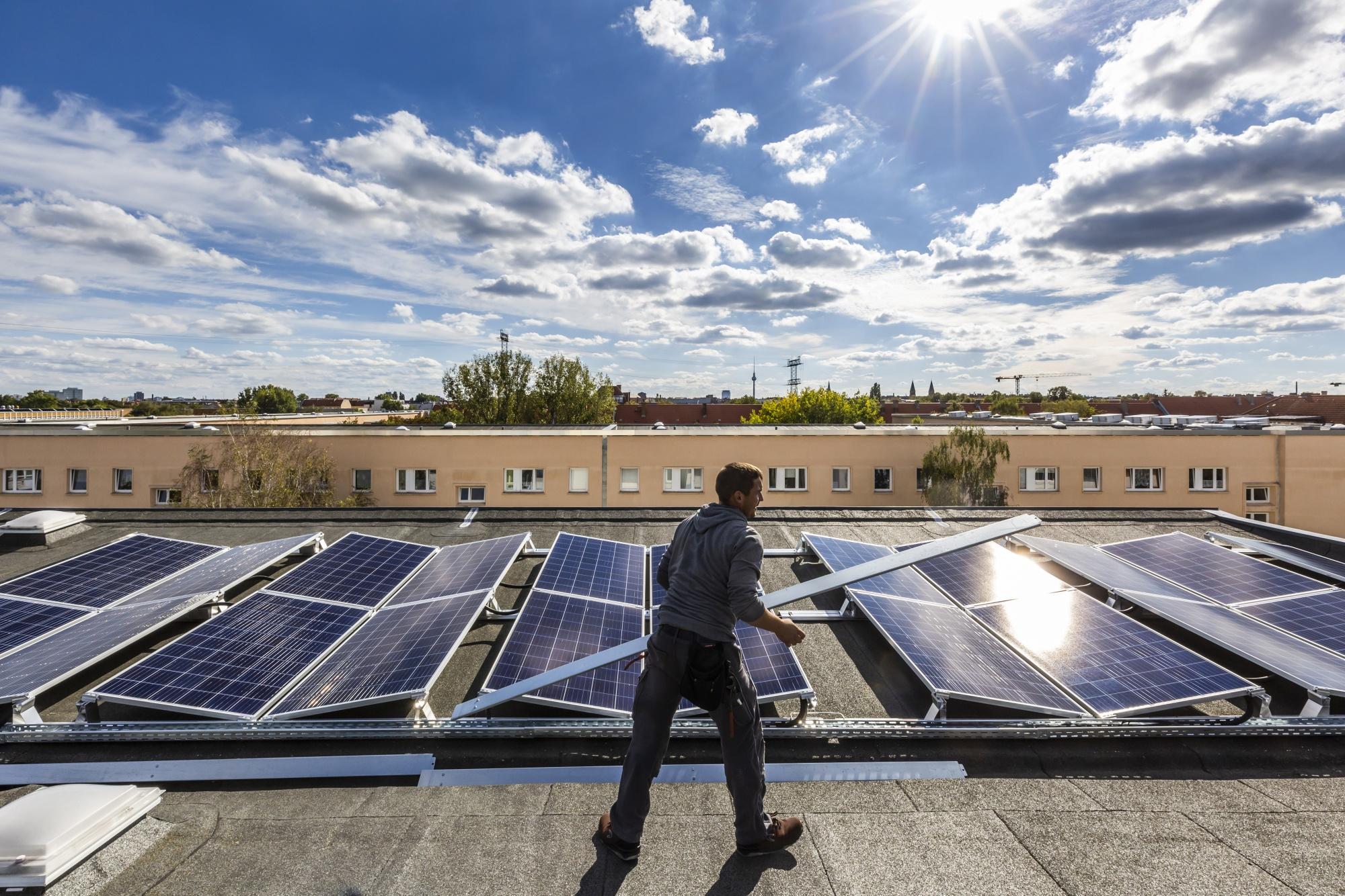 Residential Solar Power Installation In Germany