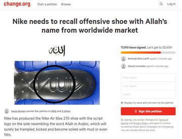 Muslims demand Nike recall sneakers with design that