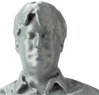 Author Ashlee Vance as rendered by MakerBot