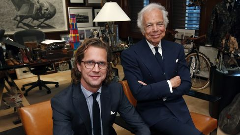 Stefan Larsson (left) and Ralph Lauren, who remains the company's chairman and chief creative officer.