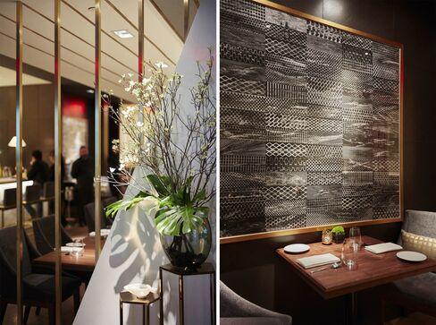 Το εστιατόριο δίπλα στο ξενοδοχείο Le Parker Meridien, είναι κομψή, διακριτική και πολύ άνετα.