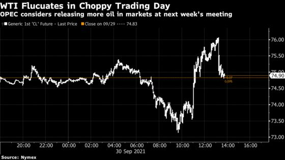 Oil Caps Biggest Monthly Gain Since June Amid Energy Shortages
