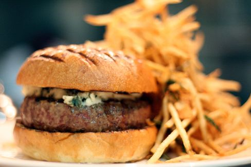 The $25 Spotted Pig burger in New York.
