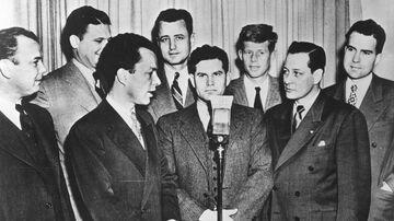 Future President John F. Kennedy is pictured with other freshman congressman, including fellow future President Richard Nixon, in Washington in 1947.