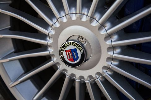 The B6 comes with custom 20-inch, 20-spoke rims.