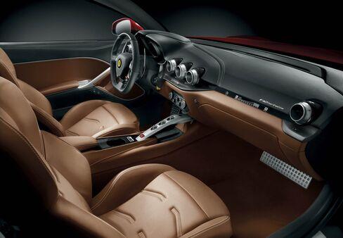 The interior of the Ferrari F12 Berlinetta.