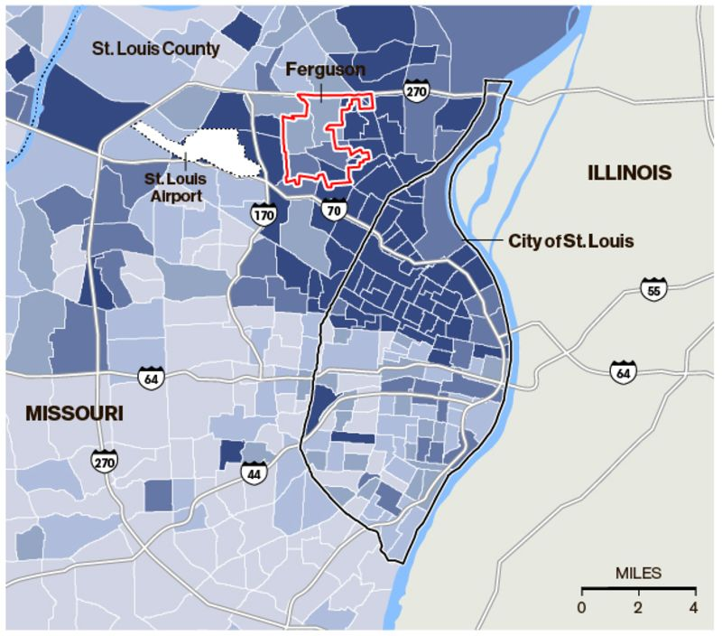 The County Map That Explains Ferguson S Tragic Discord