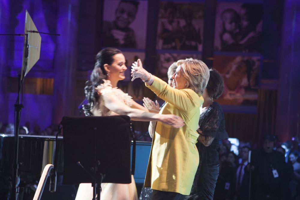 Hillary Clinton Surprises Katy Perry at Unicef Fundraiser in